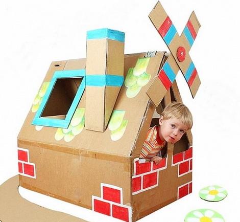 Поделки из коробок для детей в детский сад
