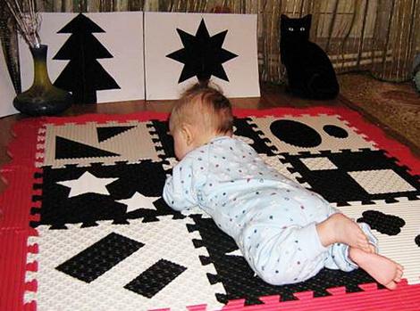 Черно-белые картинки для новорожденных