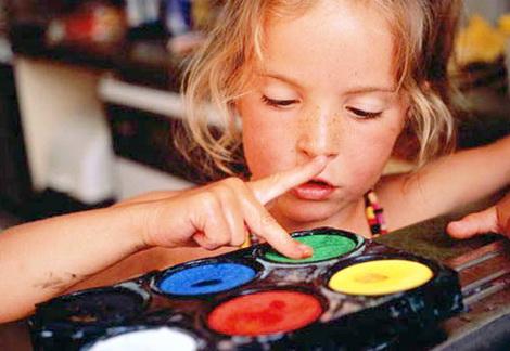 начинать рисование с ребенком